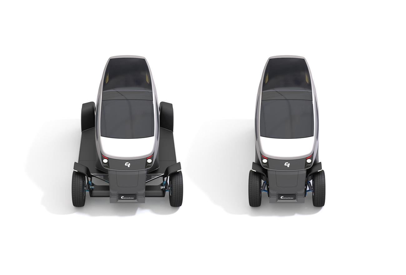 City Transformer - The Folding Car | Studio Dada, Tel Aviv